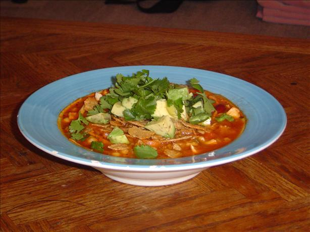 mexican menudo with chili powder