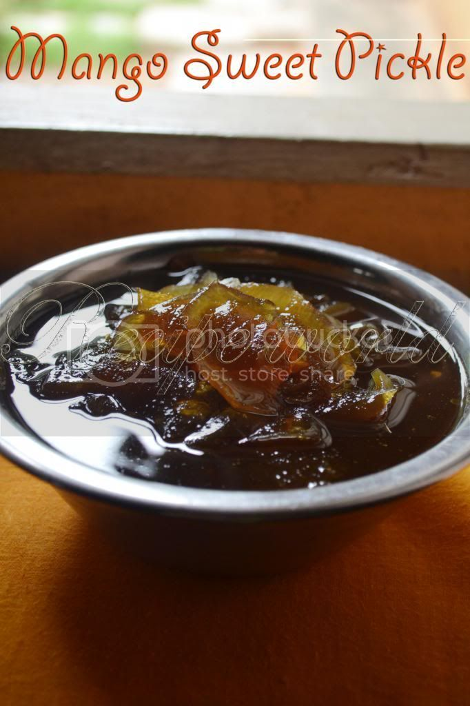 sweet and sour mango pickle