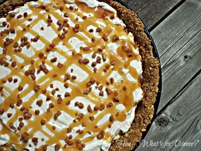 toffee cheesecake no bake