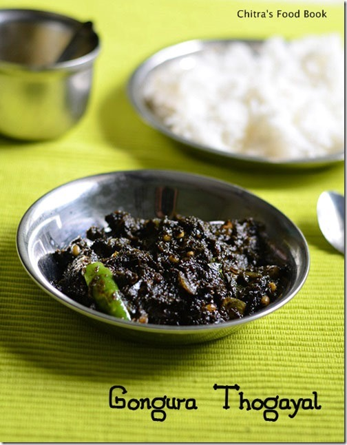 gongura pachadi with green chillies andhra style