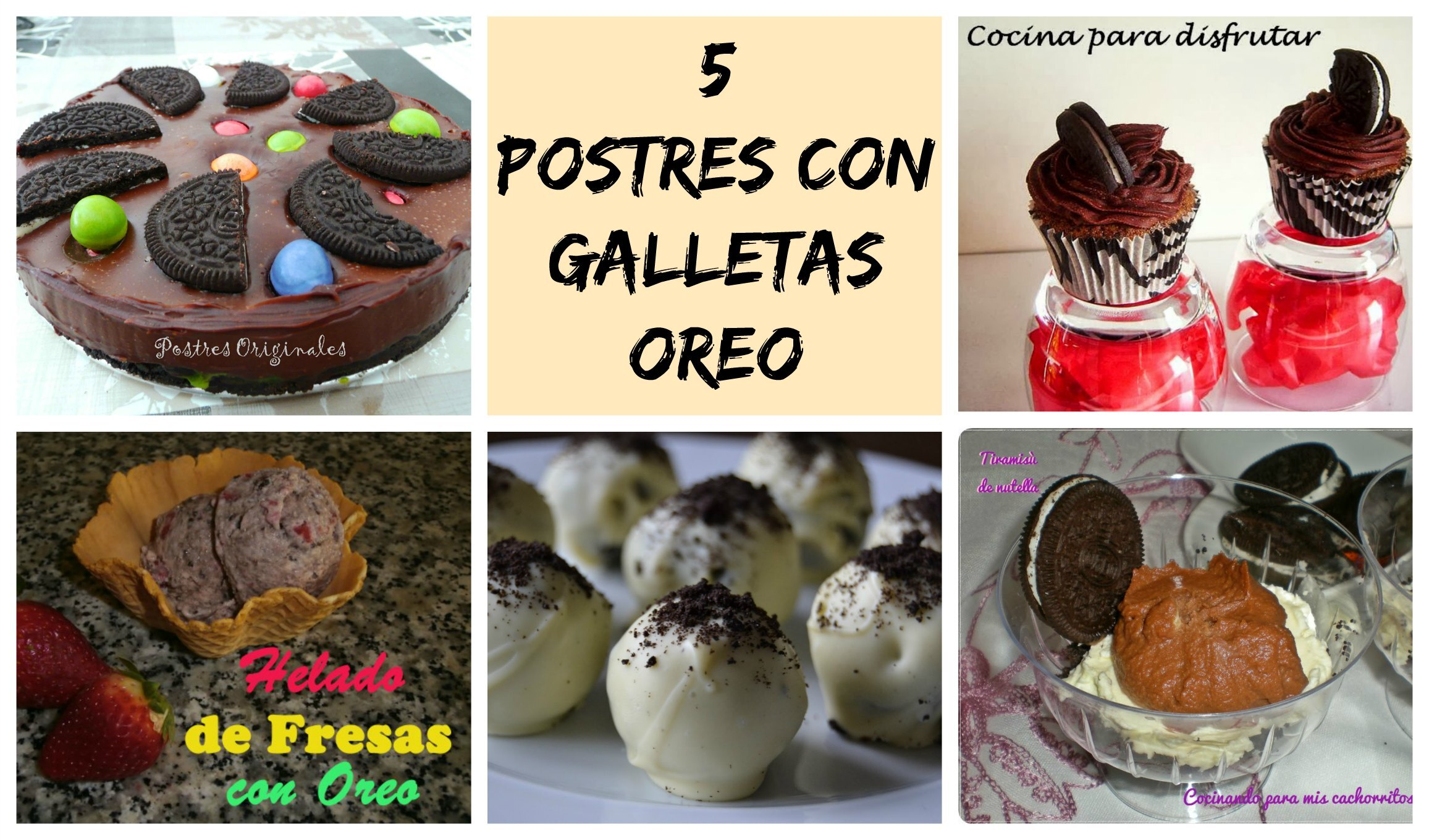 postres con galletas oreo faciles