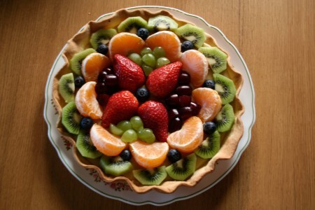 fruittaart met pudding