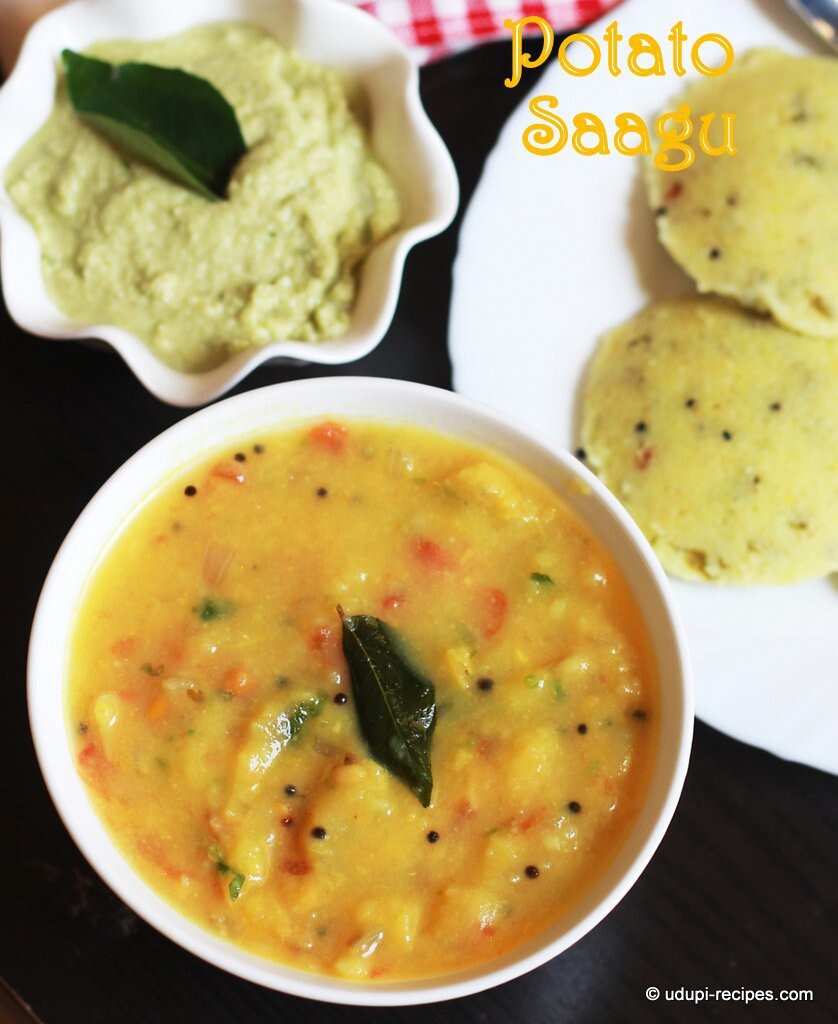 rava idli and potato sagu