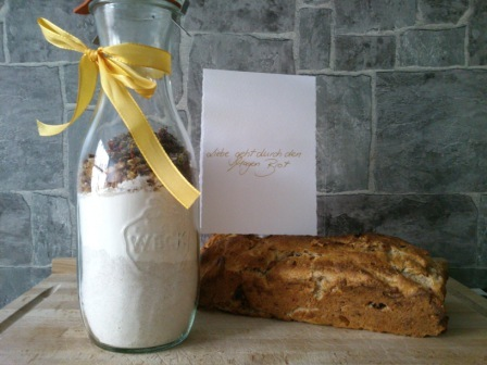 brot backmischung glas