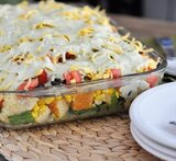 layered vegetable trifle