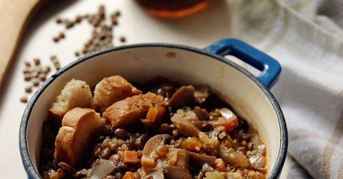 Ricette di zuppa quinoa e lenticchie mytaste - Cucinare lenticchie in scatola ...