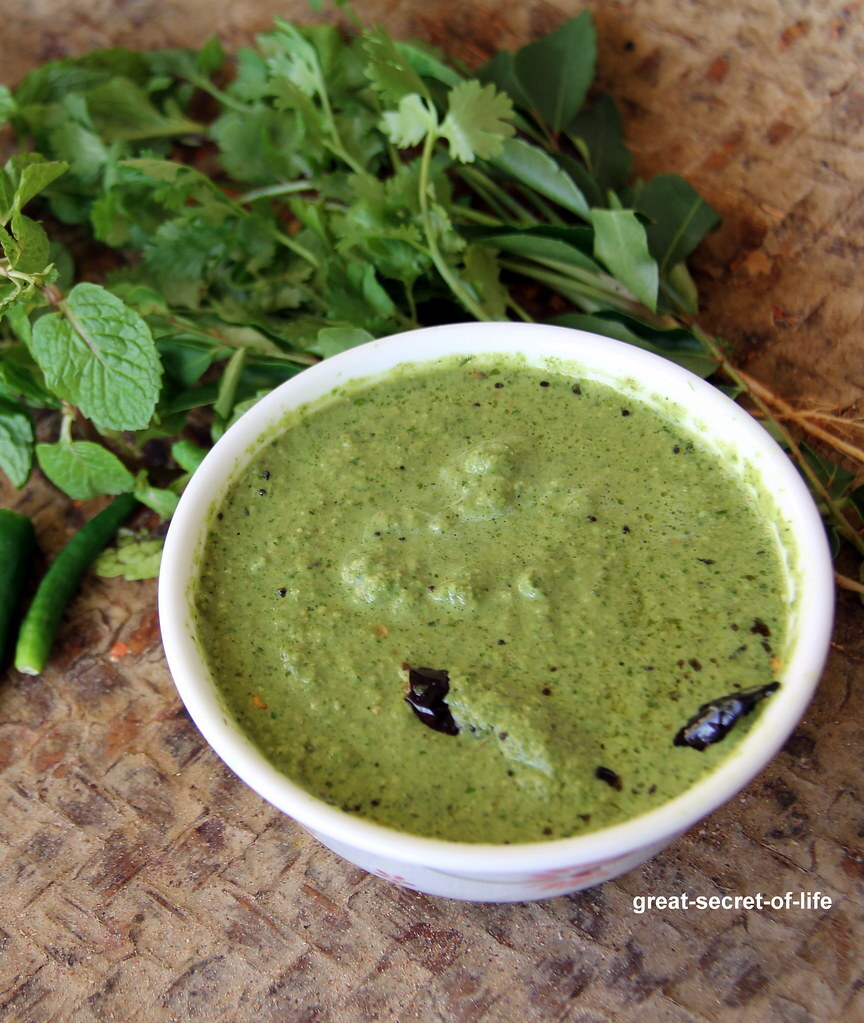 green chutney for dosa