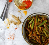 for masala bhindi with besan and onion