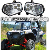 Polaris Chrome RZR900 ATV UTV accessories Led Headlight Headlamp kit 2012 2013 Polaris Ranger Side X Sides / Polaris Sportsman