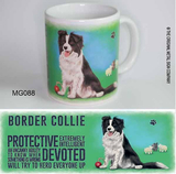 Original Metal Sign Original metall skylt Co mugg bordercollie Multi