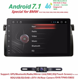 "4G 9""Android7.1 QuadCore Head Unti Car NODVD Player For BMW E46 M3 MG ZT 3 Series Rover 75 GPS Navi Radio Stereo 2GRAM 16GROM BT"
