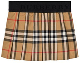 Burberry Antique Check Mini Pansie Pleat Kjol 12 months