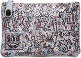 Coach X Keith Haring All Over Print Canvas Turnlock Pouch 26