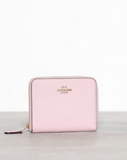 Coach Crossgrain Leather Small Zip Around Wallet Väskor Rosa