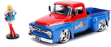 DC Bombshells Diecast Model Hollywood Rides 1/24 1956 Ford F100 med Super Girl