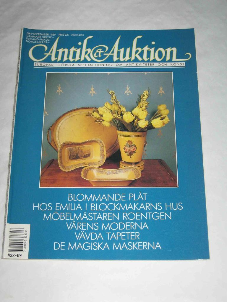 Antik & Auktion nr 9 1989