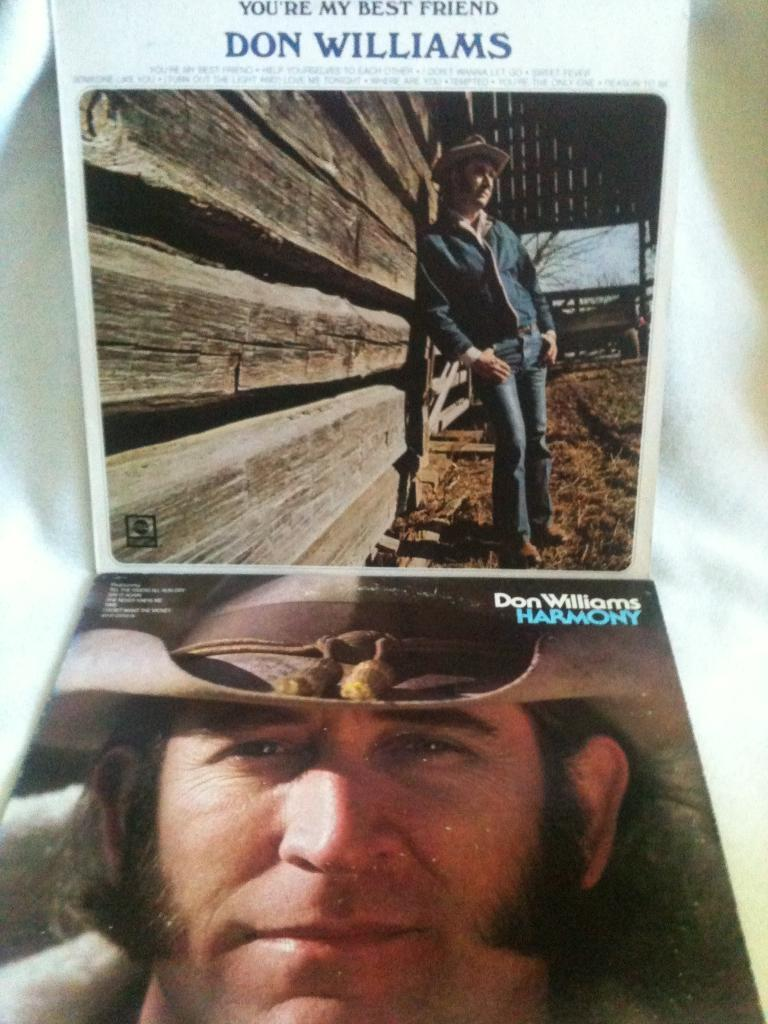 DON WILLIAMS - 2 LP-SKIVOR: HARMONY & YOU'RE MY BEST FRIEND