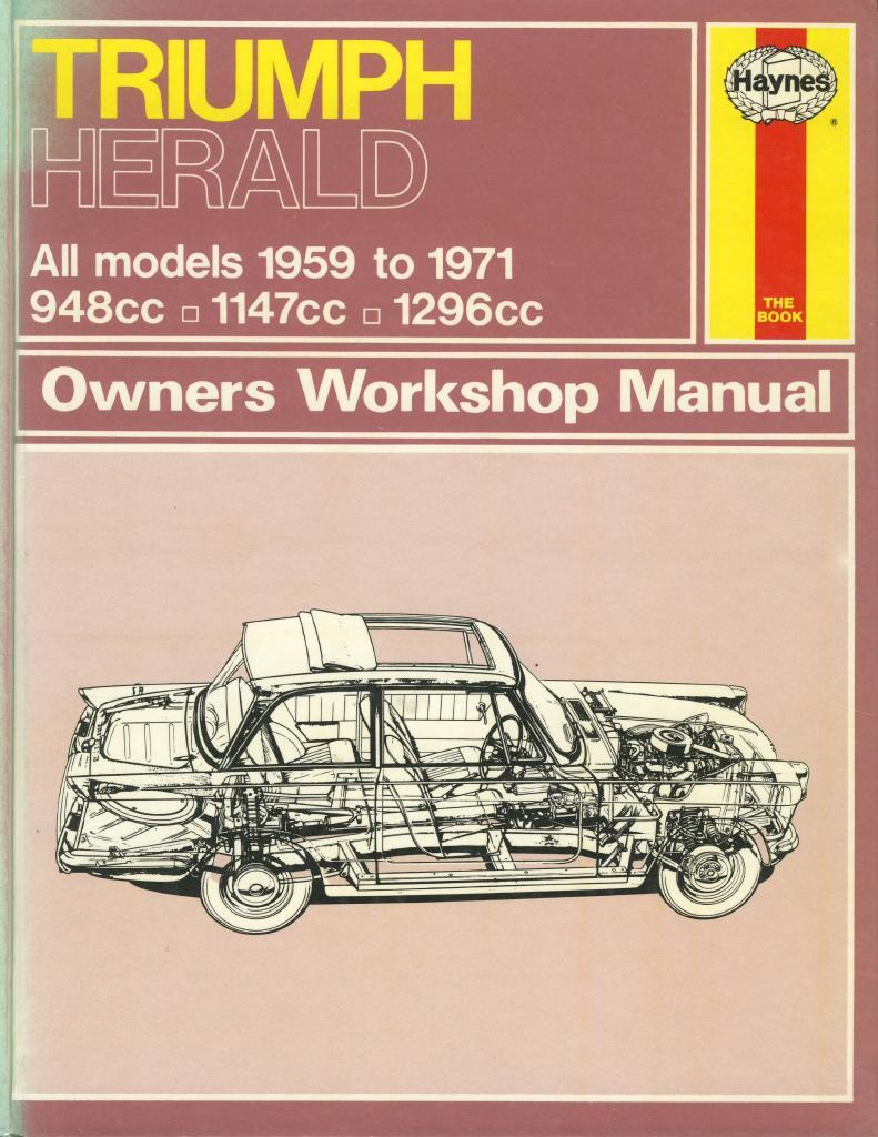 TRIUMPH HERALD - Owners workshop manual
