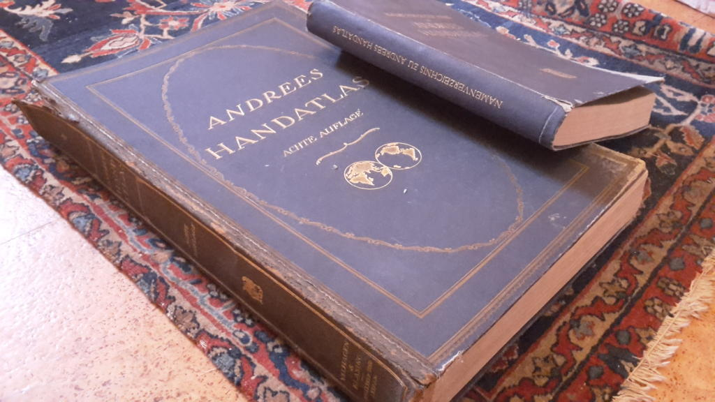 Andrees Handatlas , 8e tyska upplagan 1928, med register