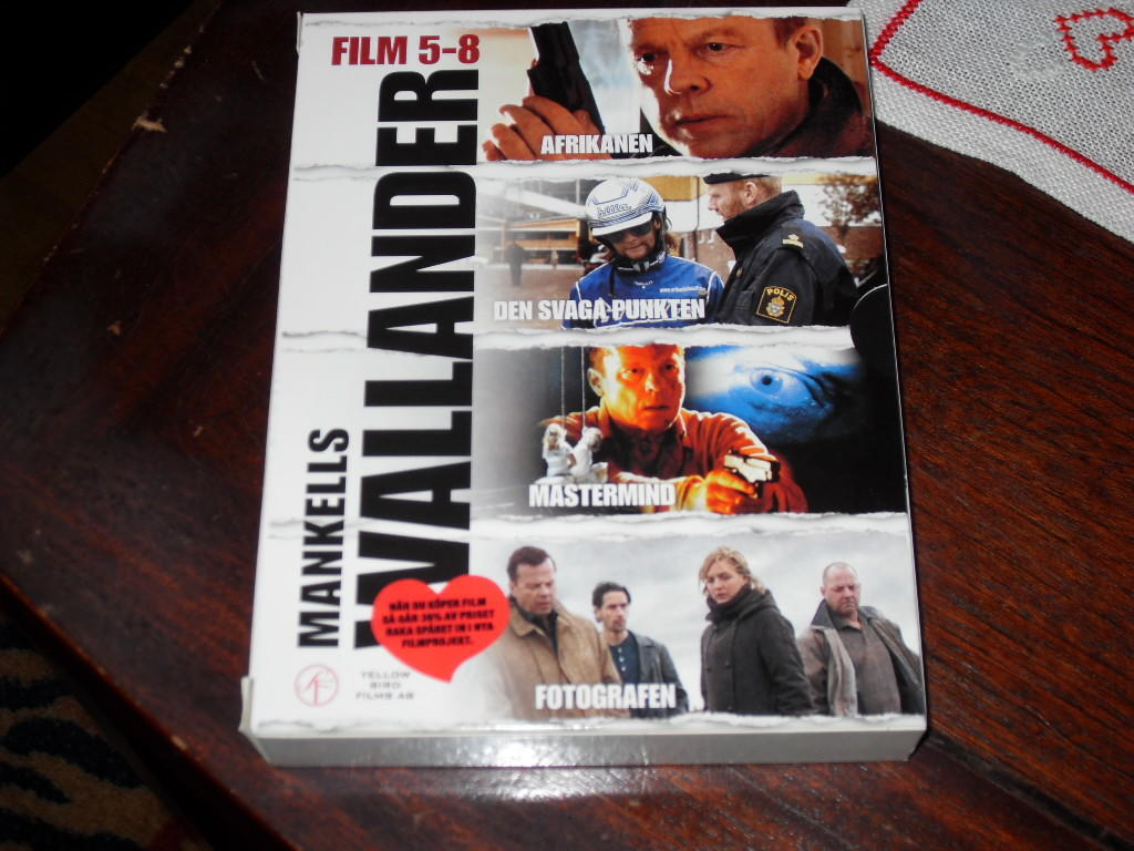 Wallander Box 2 (4 disc), Box med Wallander 5-8.
