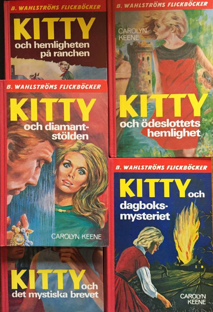 Kitty i spökhuset, Kitty och diamantstölden, Kitty och kidnapparen, Kitty och det mystiska brevet, Kitty och dagboksmysteriet