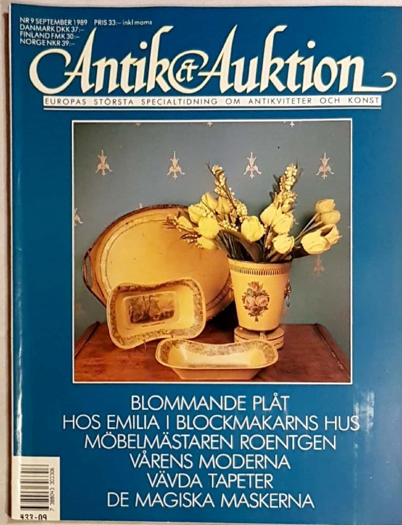ANTIK & AUKTION, nr 9-1989