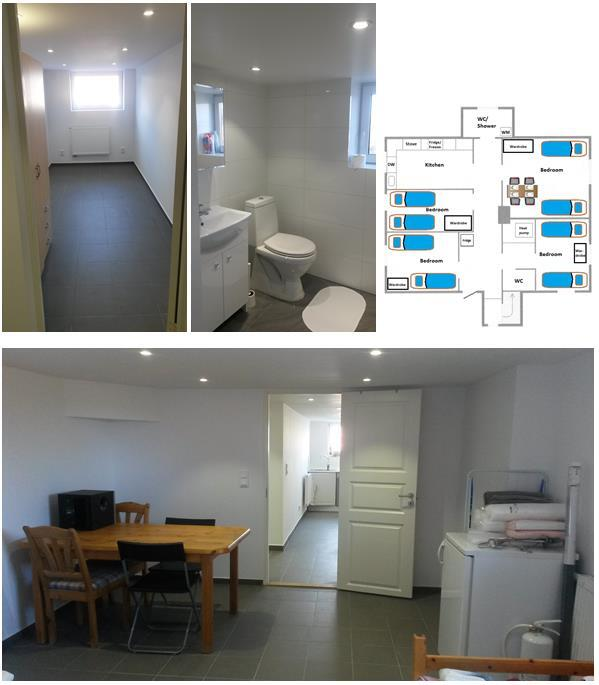 Four bedroom 100 sqm apartment. Two toilets and a large kitchen